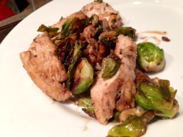 Balsamic Chicken & Brussels Sprouts finished