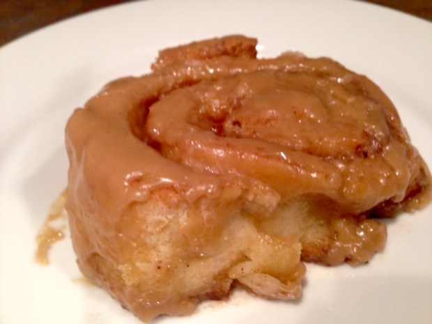 Cinnamon Rolls with Maple Frosting closeup