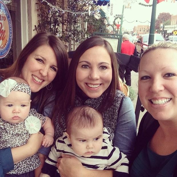 girls brunch babies