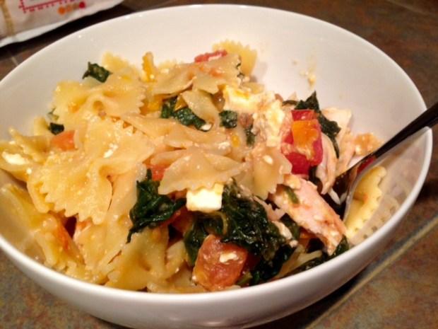Pasta with Spinach, Tomato, & Feta