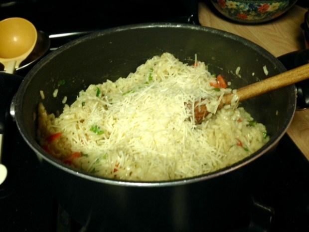 risotto primavera parmesan