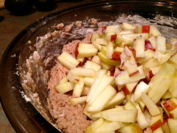 healthy apple cinnamon muffins apples chopped mixed