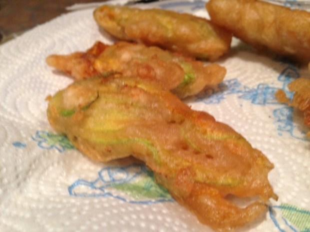 fried squash blossom fried