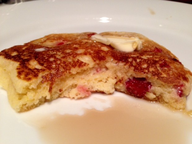 Strawberry Cornmeal Griddle Cakes done