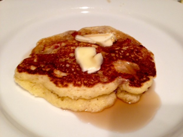 Strawberry Cornmeal Griddle Cakes finished