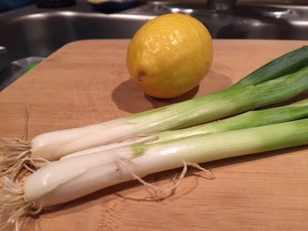lemon almond chicken salad green onions lemon