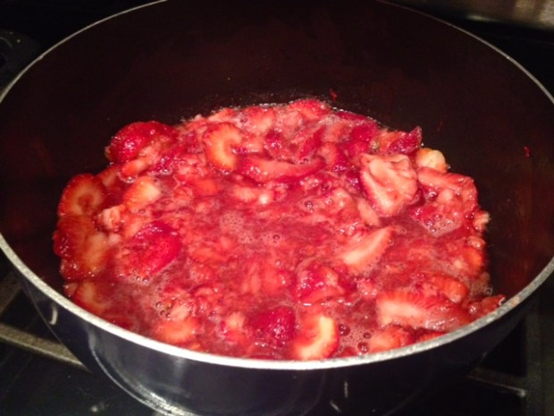 strawberry chia jam strawberries cooking