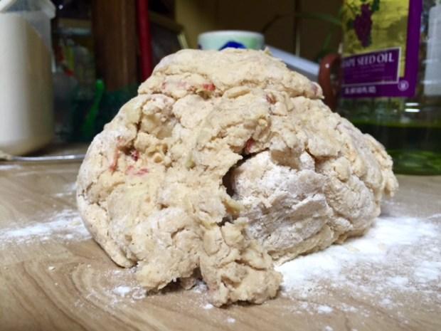 apple pie scones dough rough
