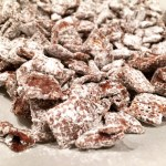Dark Chocolate Puppy Chow with Sea Salt