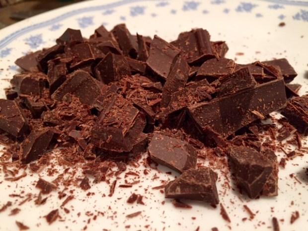 salted dark chocolate chunk cookies chopped chocolate