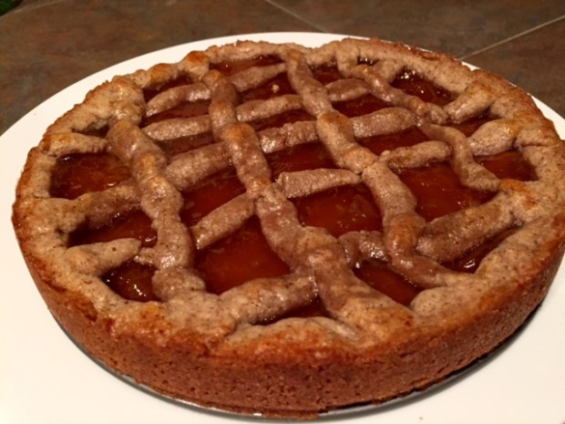 apricot linzer torte baked