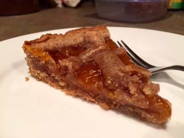Apricot Linzer Torte slice