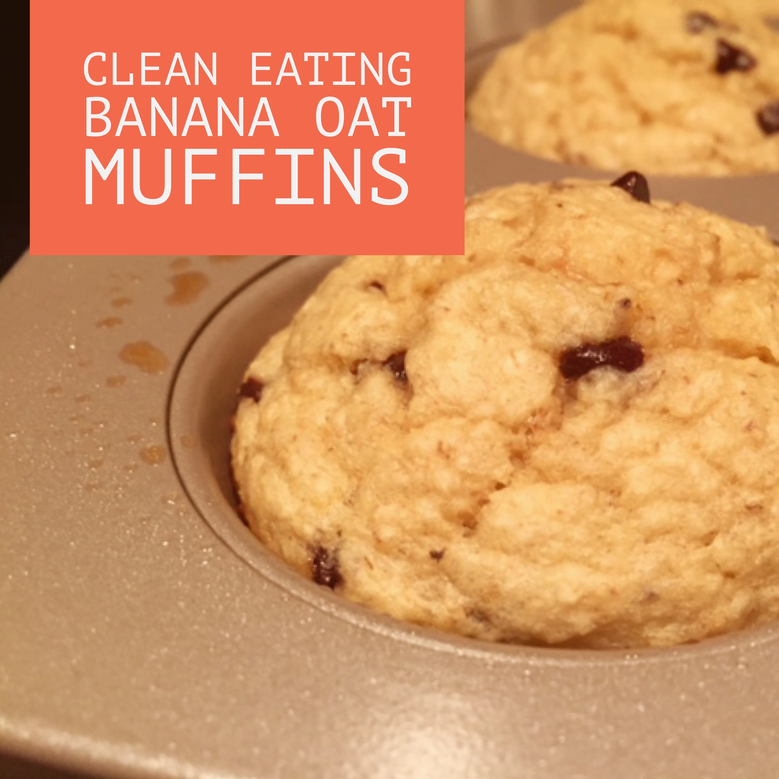 Clean Eating Banana Oat Muffins (gluten-free)