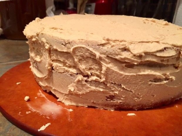 Vanilla Spice Coke Cake with Salted Peanut Frosting