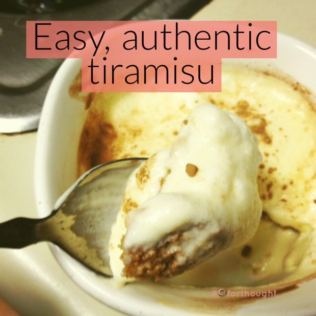 Easy, authentic tiramisu...not as hard as you think, & feels so fancy