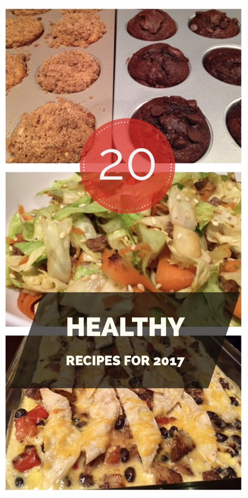 20 Healthy Recipes for 2017...great for leftovers, lunches for work, even desserts
