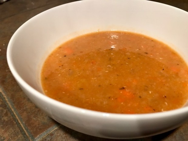 Delicious & easy Turkish red lentil soup, ready in half an hour