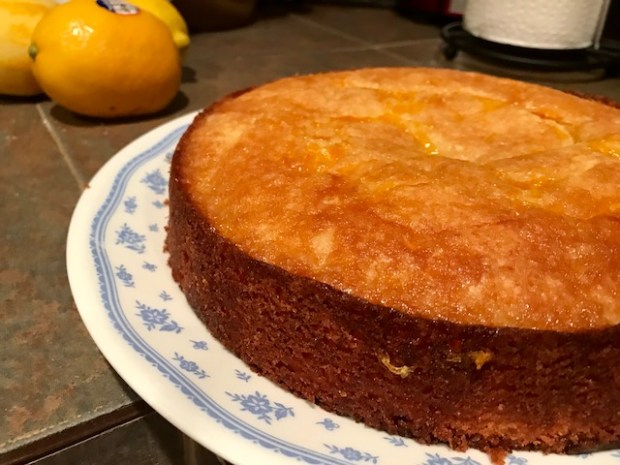 Easy One Bowl Meyer Lemon Syrup Cake | finding time for cooking
