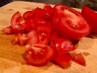 baked pasta with beef & summer veggies tomato