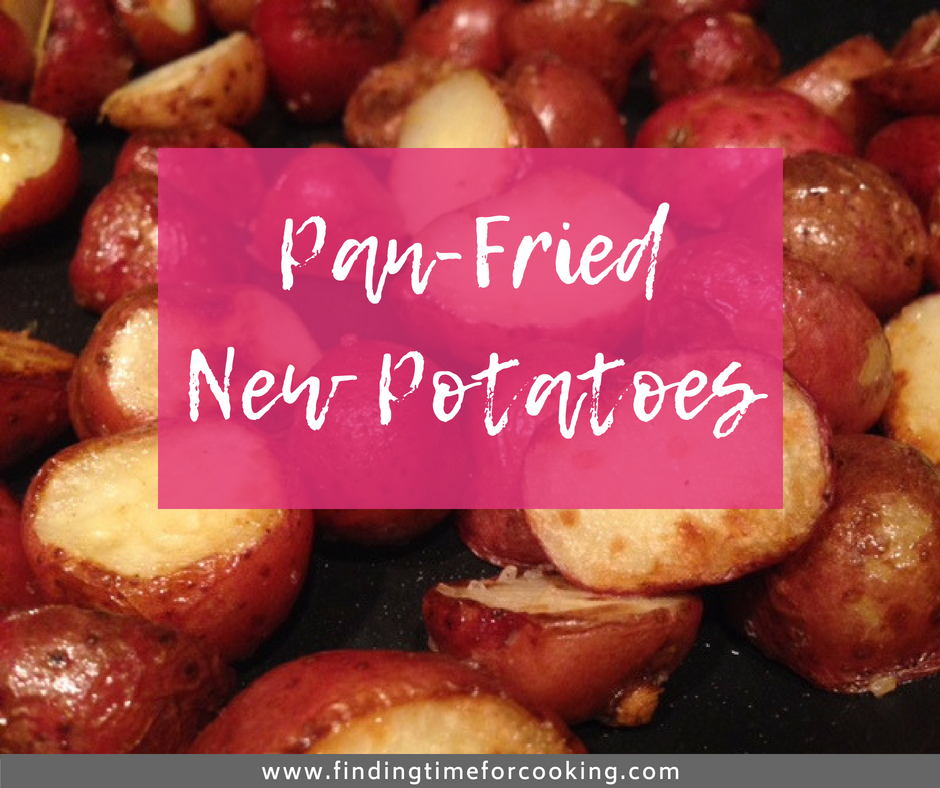Easy Fried Baby Potatoes | one of my favorite summer side dishes, super easy and fast, and soooo good! #potatoes #sidedish #summer