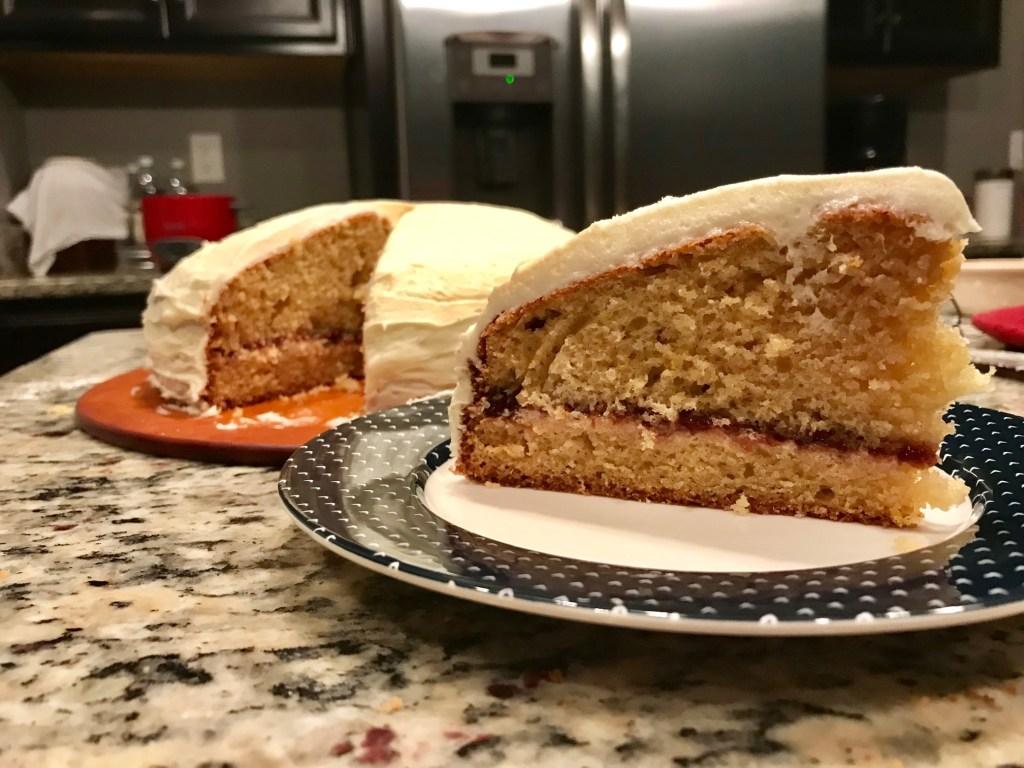 Lemon Elderflower Cake with Strawberry Jam | finding time for cooking blog
