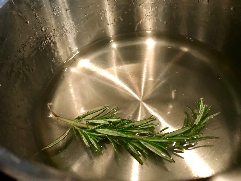 Easy Homemade Rosemary Simple Syrup | finding time for cooking blog