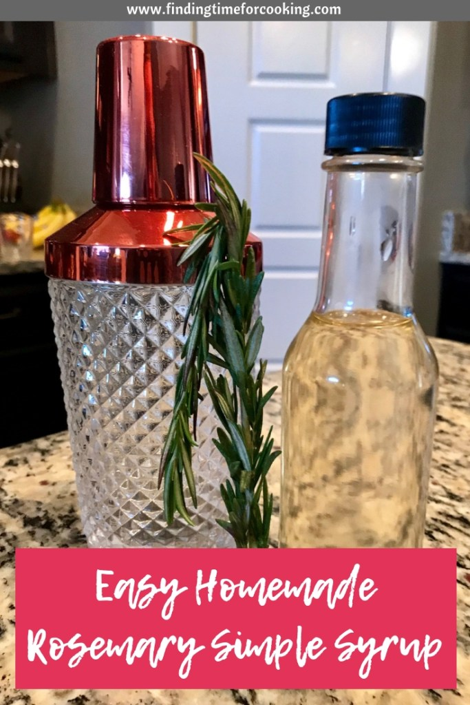 Easy Homemade Rosemary Simple Syrup | this rosemary simple syrup makes a great addition to many cocktails, from a rosemary old fashioned to sprucing up a gin & tonic.  And you can add it to baked goods as well! #rosemary #cocktail #mixeddrink #simplesyrup #mixology