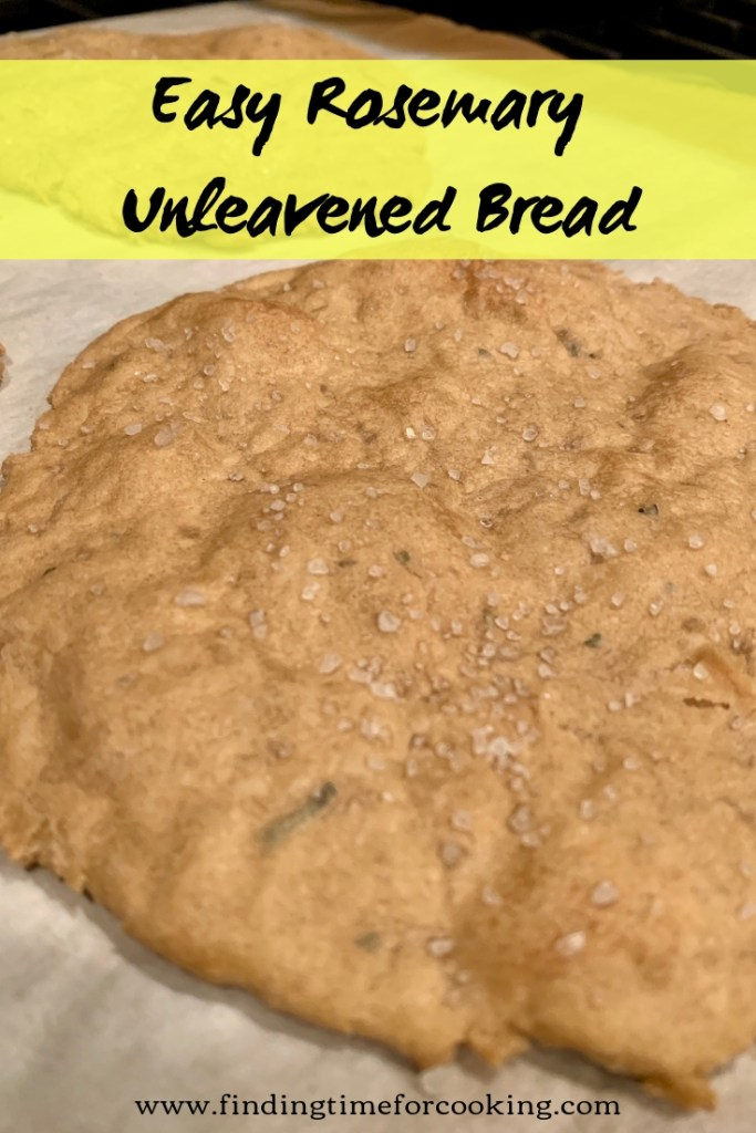 Fast & easy rosemary unleavened bread with sea salt