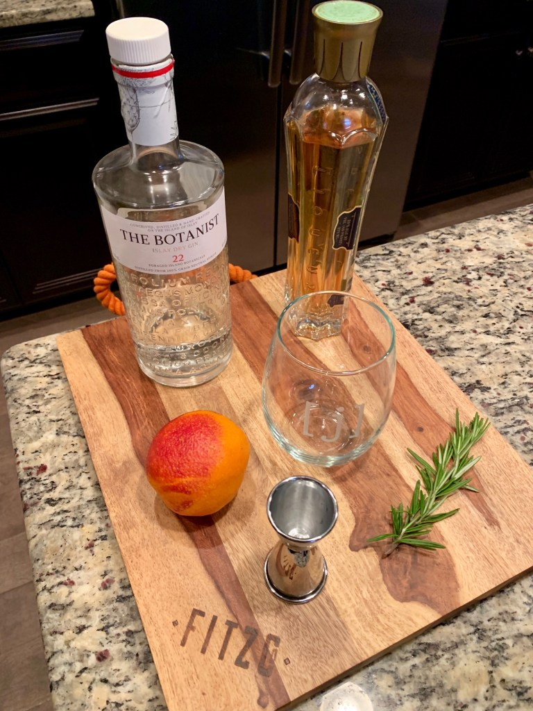 blood orange & st. germain gin cocktail
