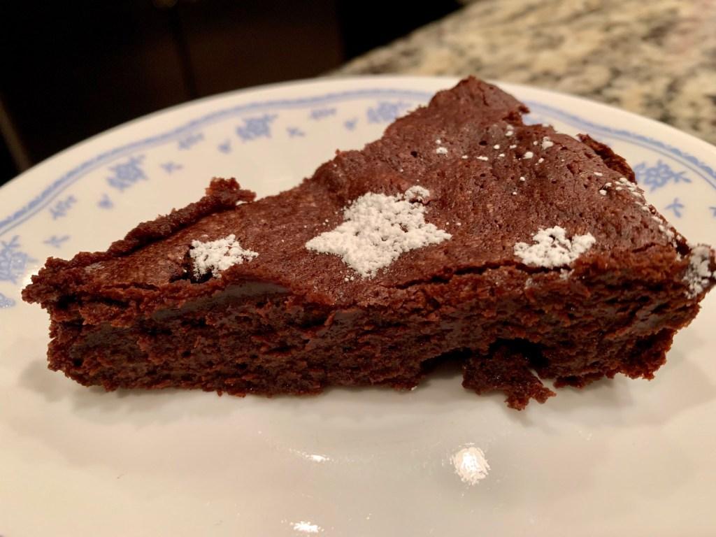 dark chocolate flourless chocolate cake, gluten-free