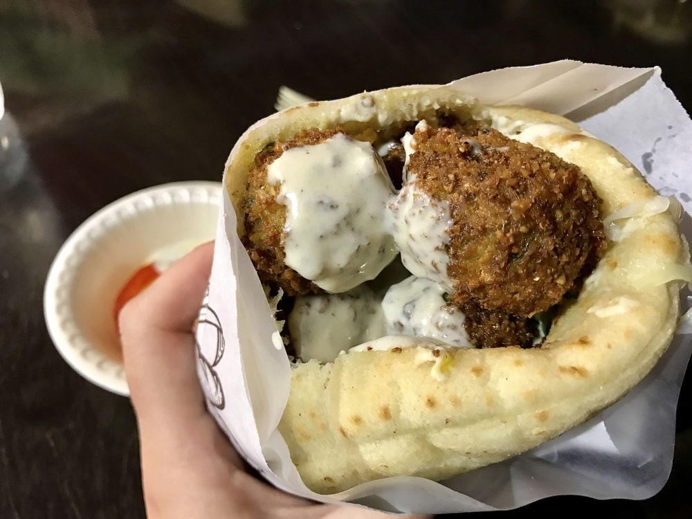 Hot fresh falafel is a big part of Israeli cusine
