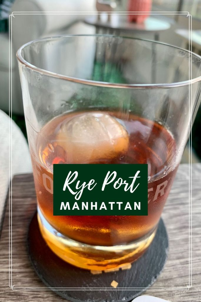 Rye Port Manhattan Cocktail: A Twist on a Classic | This delicious take on a classic Manhattan is perfect for anyone looking for a Manhattan without vermouth. Port substitutes for vermouth, for an easy at-home cocktail using rye whiskey, port, and bitters. #cocktail #ryewhiskey #rubyport #athomecocktail
