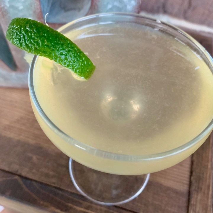 A French Gimlet Cocktail with Gin