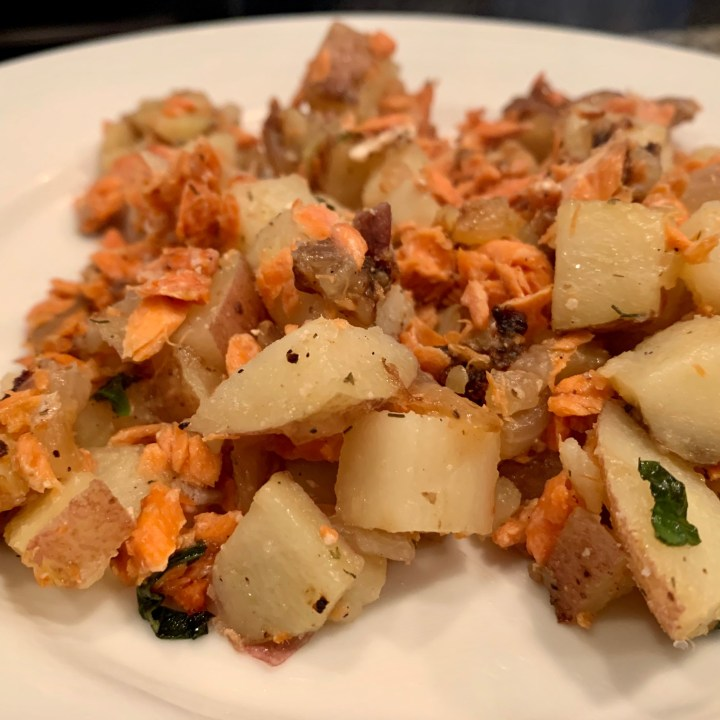Salmon & Potato Hash With Fresh Herbs