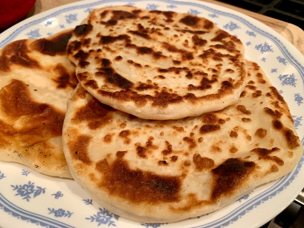Delicious flaky buttery no-yeast flatbreads