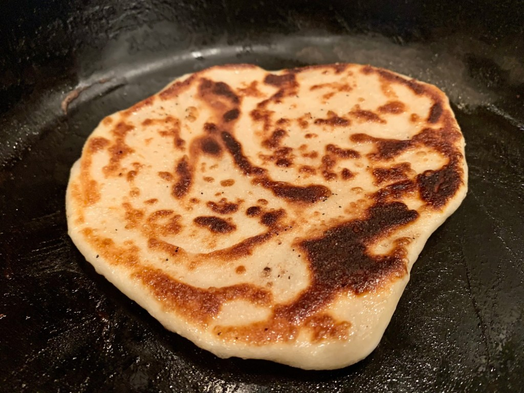 Be careful not to use too much butter on your no yeast flatbreads or they'll get oily