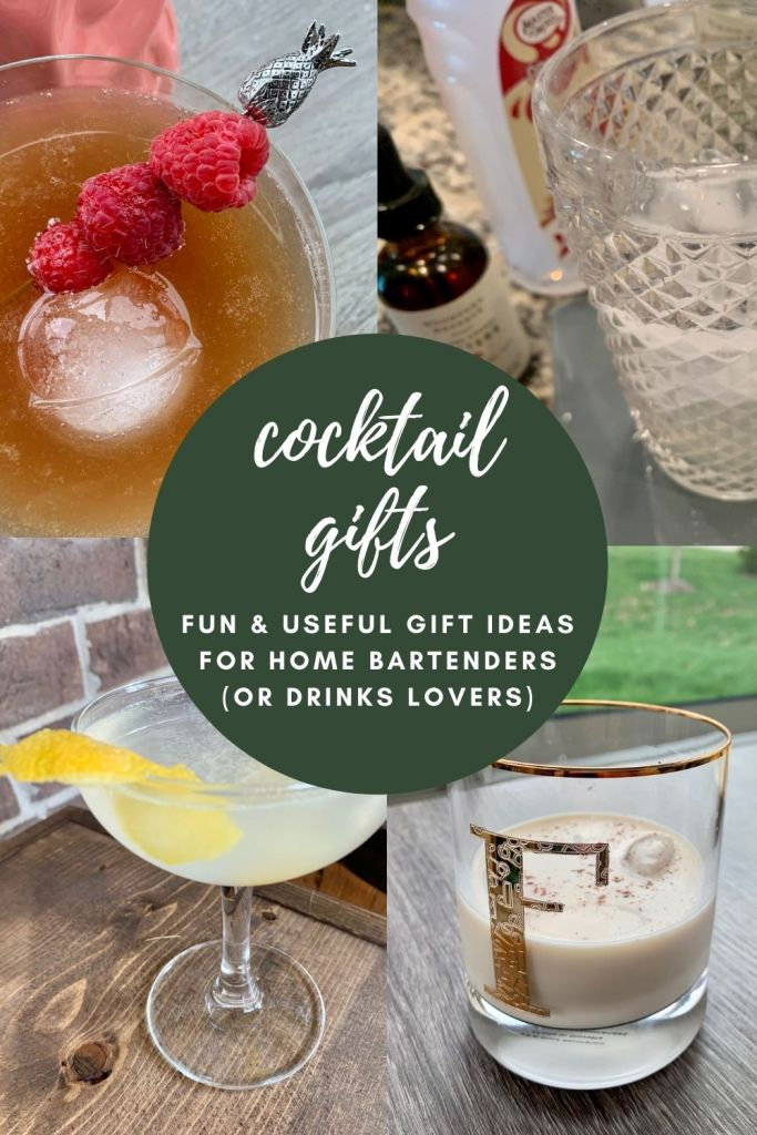 Best Cocktail Gifts...for the Home Bartender in Your Life | As someone who's obsessed with delicious drinks at home, here are useful and fun gift ideas for the at-home bartender, DIY mixologists, and even just casual drinkers. Cocktail gift ideas, how to make cocktails at home, cocktail-themed gifts, gift ideas for men, holiday gifts for women...something for everyone! #giftideas #cocktails #drinkrecipes