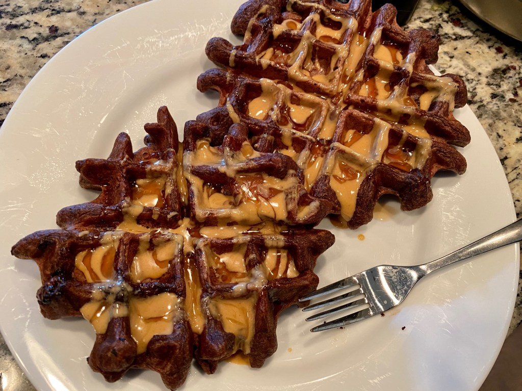 This single-serving dark chocolate waffle is the perfect answer to last-minute cravings