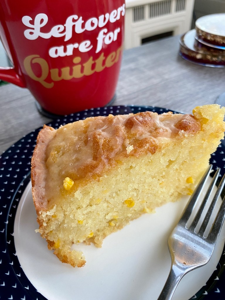 Sweet Corn Cake with Tart Lemon Glaze | finding time for cooking