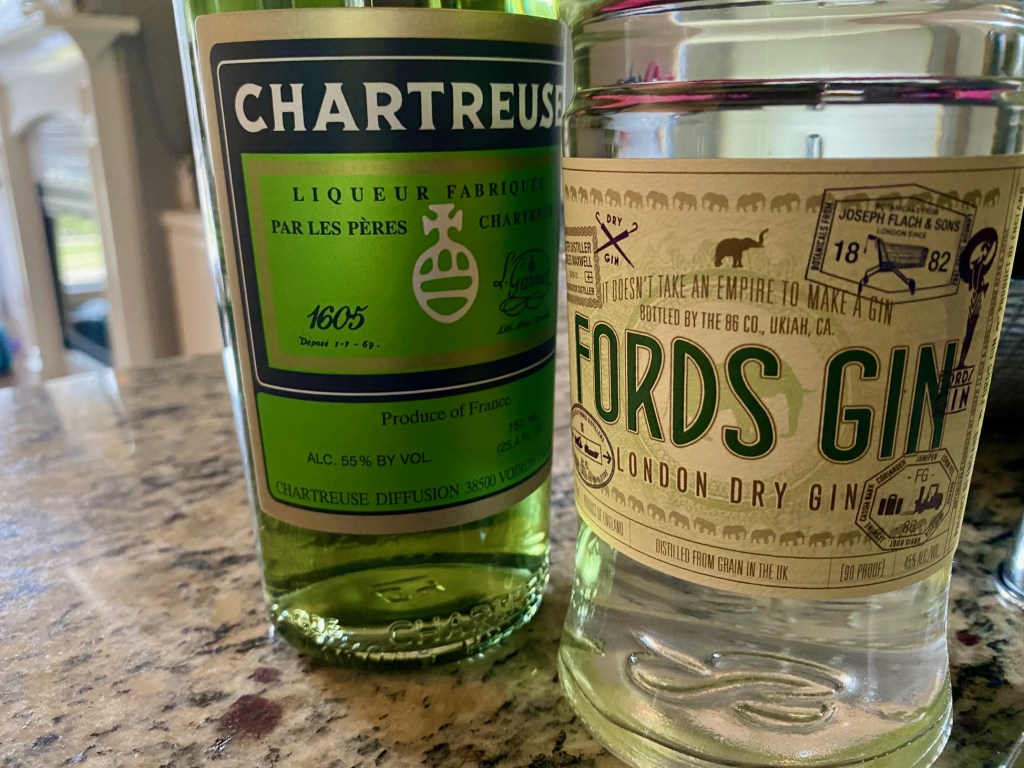 This easy gin & green chartreuse cocktail is a perfect way to use green chartreuse