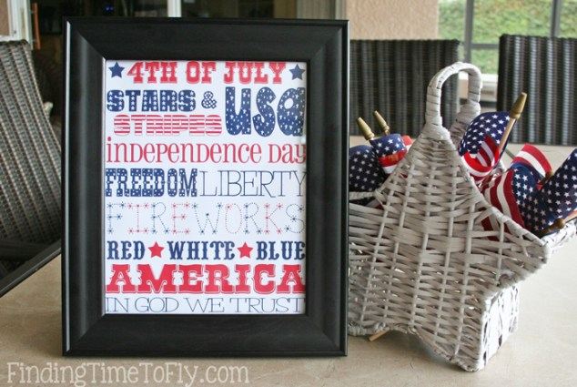 4th of July Subway Art Printable