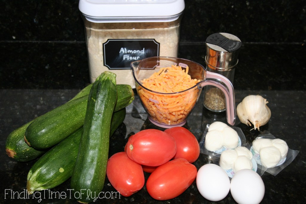 Zucchini Crust Low Carb Pizza Ingredients