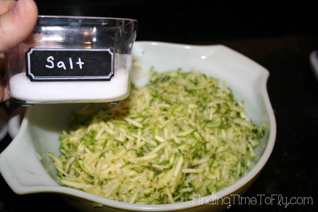 Zucchini Crust Low Carb Pizza - add salt