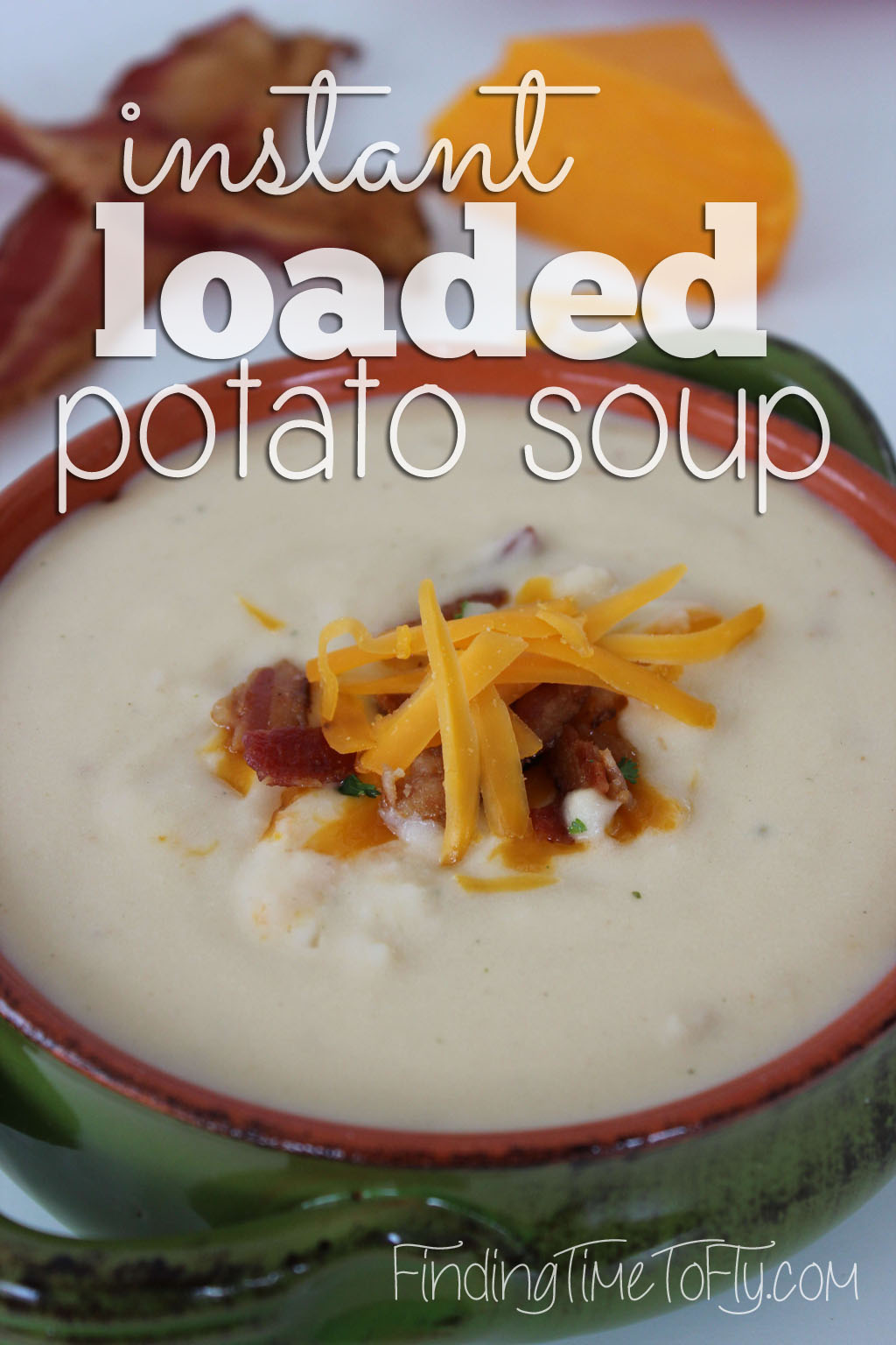 This Instant Loaded Potato Soup is cooked in one pot and on the table in 30 minutes!
