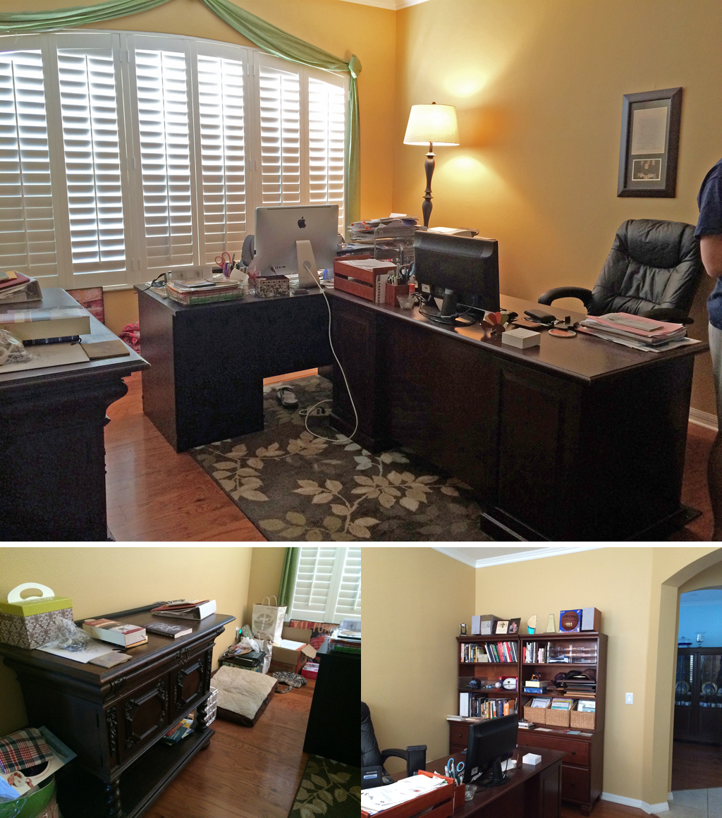 """Before"" Office Arrangement...it's a mess!"
