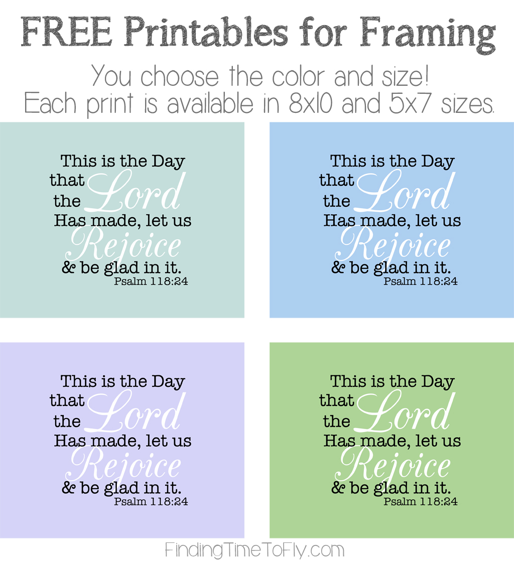 This Is The Day Free Printable Bible Verse