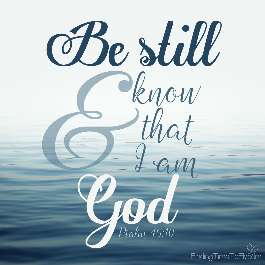 Psalm 46:10 ~ Be still and know that I am God.