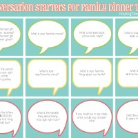 50 Conversation Starters for Family Dinner Time