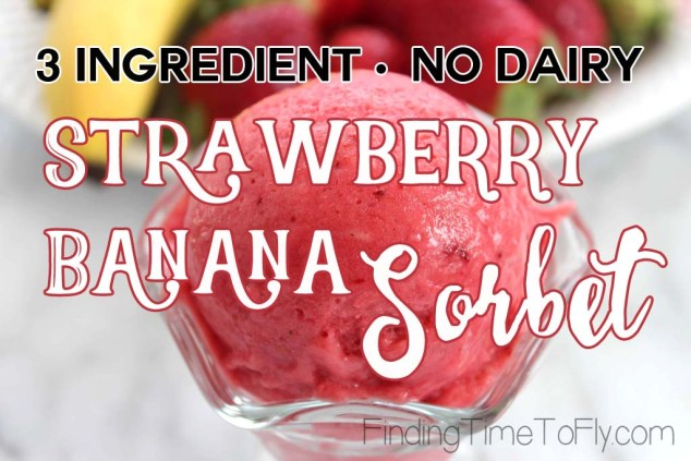 3 Ingredient No Dairy Strawberry Banana Sorbet