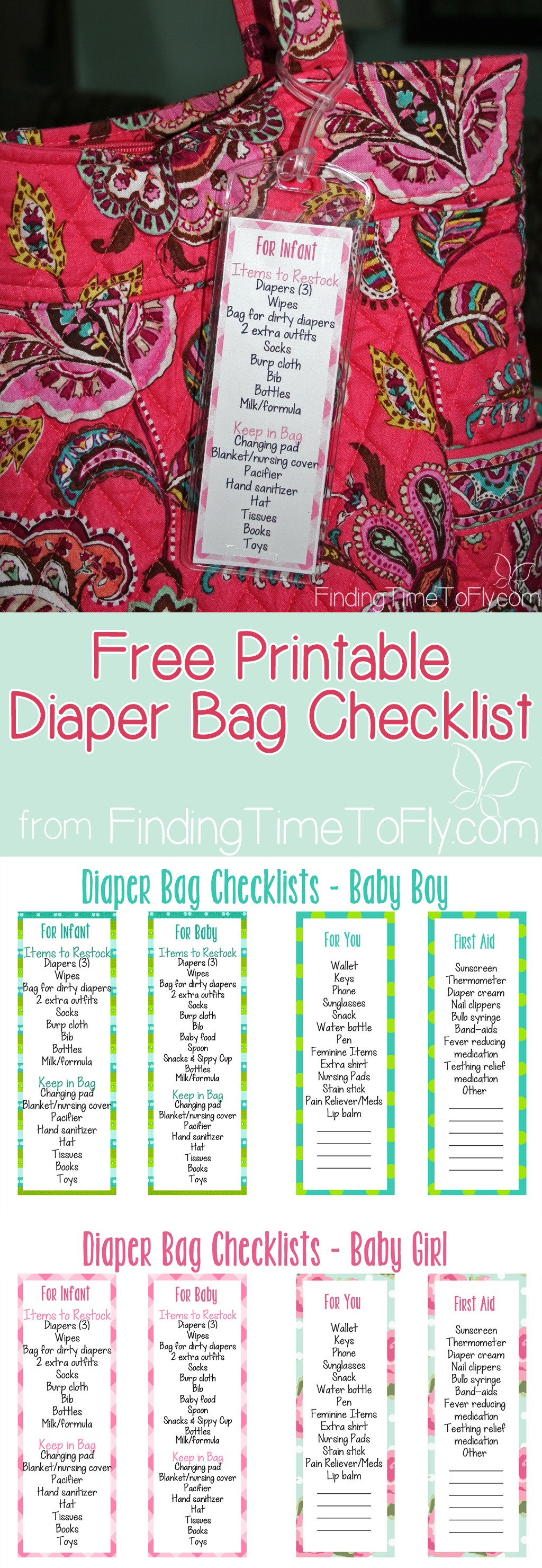 Diaper Bag Checklist - pin